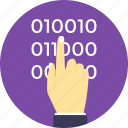 binary code, binary code programmer, computer processor instructions, computer programming, machine language programmer icon