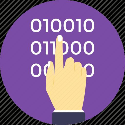 binary code, binary code programmer, computer processor instructions, computer programming, machine language programmer icon