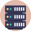 data center, database, hosting center, server, web hosting icon