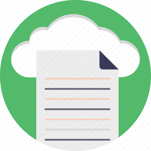 cloud storage, data storage, digital data, network file system, online documents icon