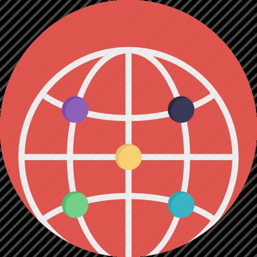 digital earth, earth, grid globe, planet, world map icon