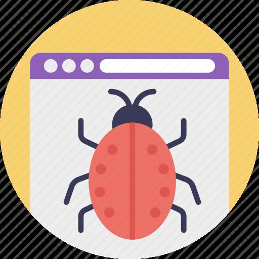 antivirus software, application virus, database virus, macro virus, malware icon