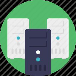 computer to store, data storage, information access, information management, information technology icon