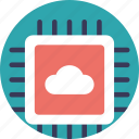 cloud computing, cloud hosting, cloud storage, information technology, remote server hosting icon
