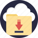 cloud backup, cloud computing, cloud data transfer, cloud downloading, cloud storage icon