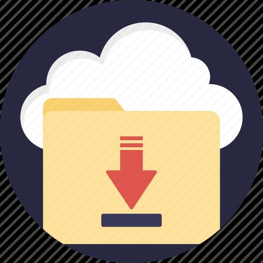 cloud backup, cloud computing, cloud data transfer, cloud downloading, cloud storage icon