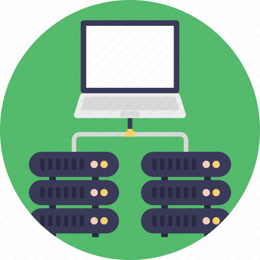computer servers, data transferring, dns server connection, shared server hosting, web hosting icon