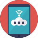 android app, connected hotspot, internet phone connection, mobile hotspot, portable wifi icon