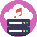 audio music server, cloud storage for music, media server, music server, online music icon