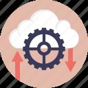 cloud backup service, cloud computing operations, cloud computing services, cloud configuration, learning cloud computing icon