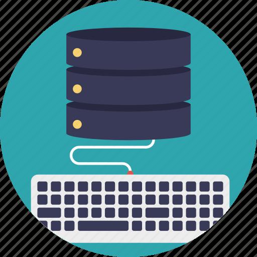 client-server model, computing server, database server, server hardware, web hosting icon