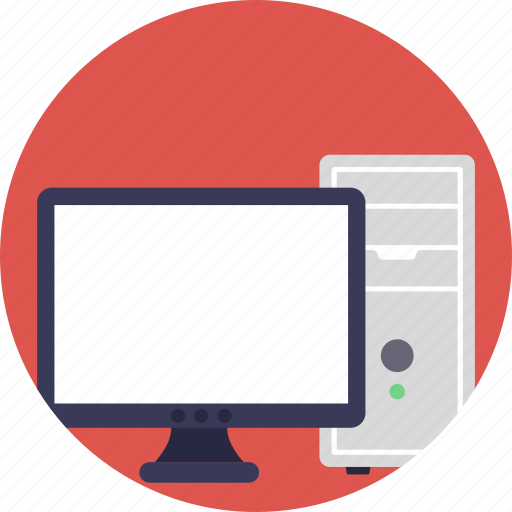 computer, desktop, pc, personal computer, workstation icon