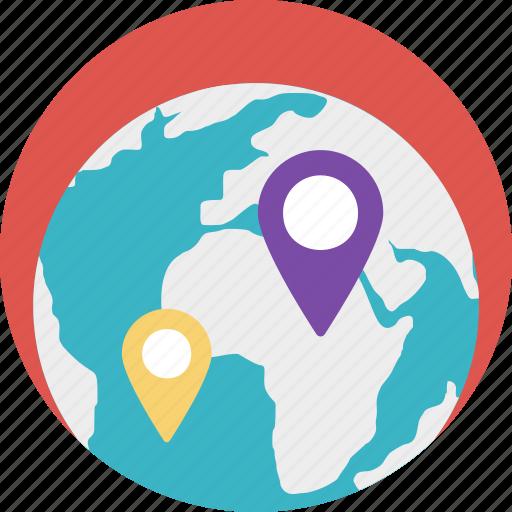 global locations, global navigation, global positioning system, gps, satellite navigation icon
