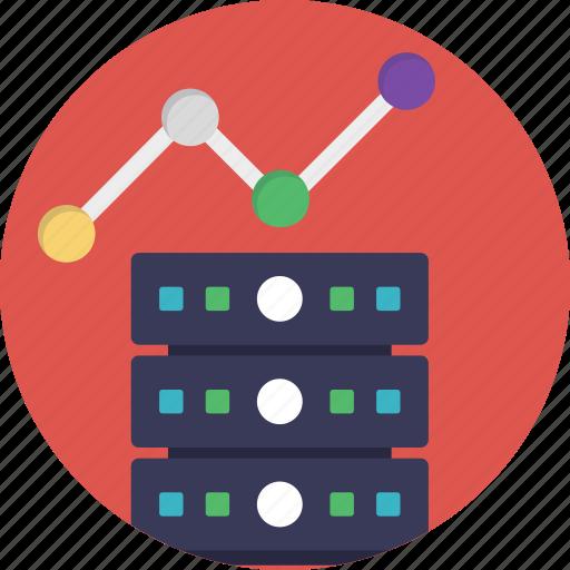 database analysis, seo performance, server analytics, web analytics, web ranking icon