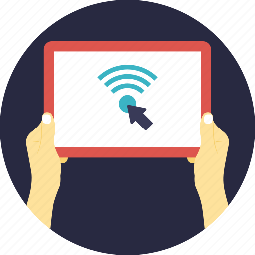 hotspot, internet access, internet service, tablet wifi connection, wifi technology icon