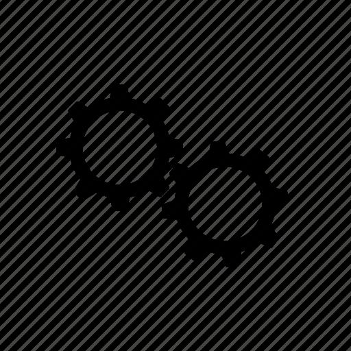 cog, cogs, gear, loading, processing, settings, work in progress icon