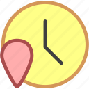 local time, time zone icon