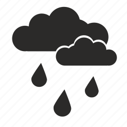 cloud, drop, rain, weather icon