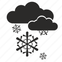 cloud, rain, snow, weather icon