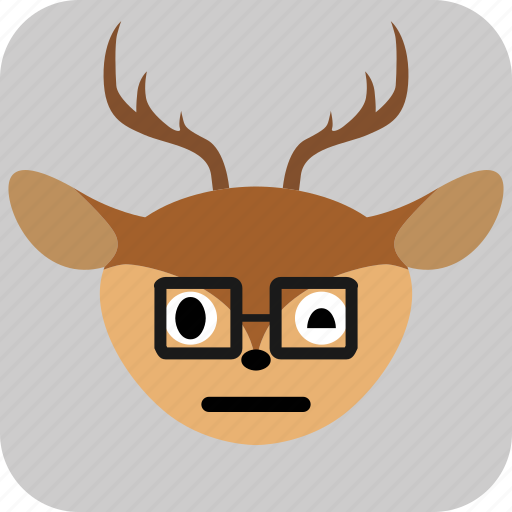 Deer, emoticon, expression, face, sad, smile icon - Download on Iconfinder