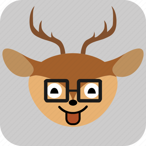 Deer, emoticon, expression, face, sad, smile icon - Download on Iconfinder