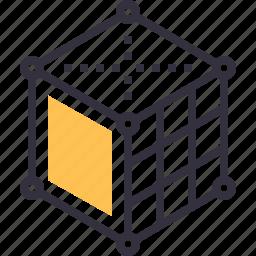3d, box, cube, design, development, digital, modeling icon