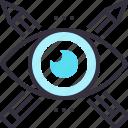 design, draw, eye, imagination, pencil, view, vision icon