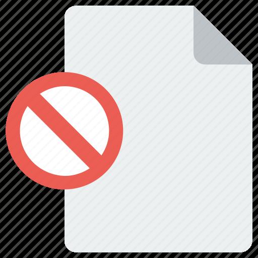 block, delete, page, remove icon