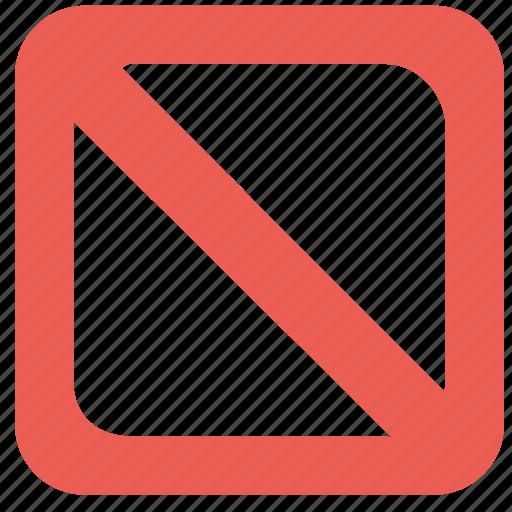 block, delete, remove, square icon