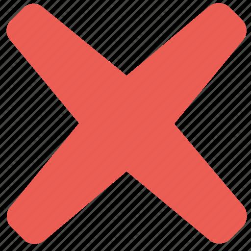 cross, delete, remove, rounded icon