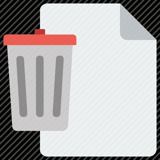 delete, page, recycle bin, remove icon