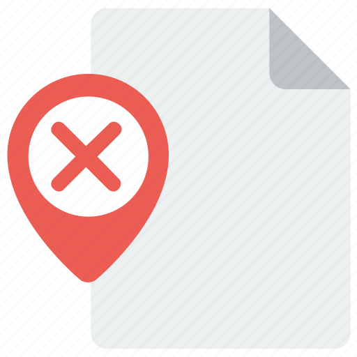 delete, page, pin, remove icon