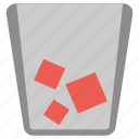 delete, dustbin, paper, recycle bin, remove icon