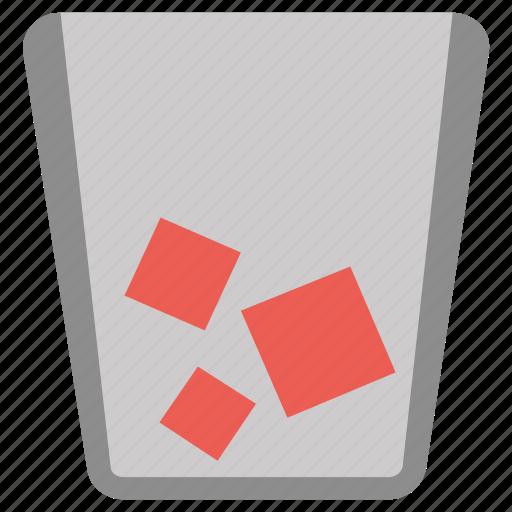 delete, dustbin, paper, recycle bin, remove icon