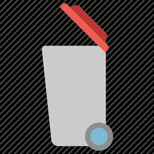 delete, dustbin, recycle bin, remove, trolly icon