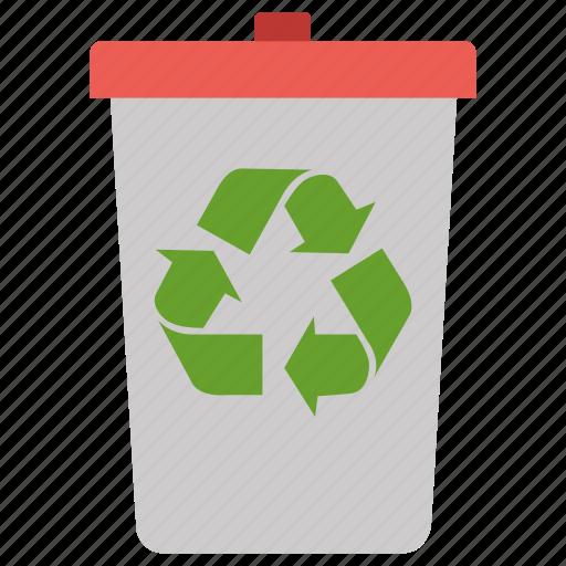 bin, delete, recycle, recycle bin, remove icon
