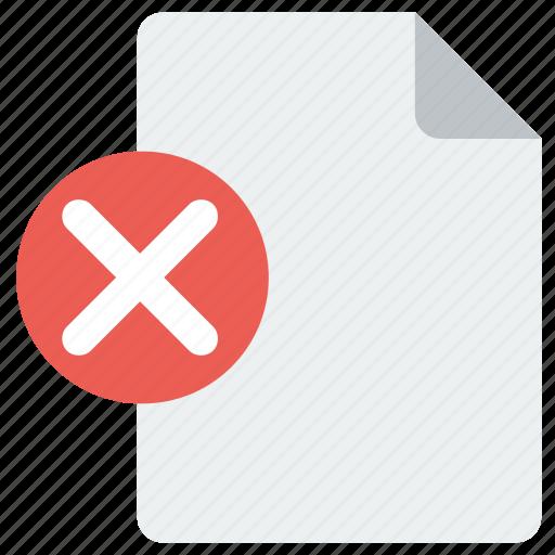 delete, page, remove icon