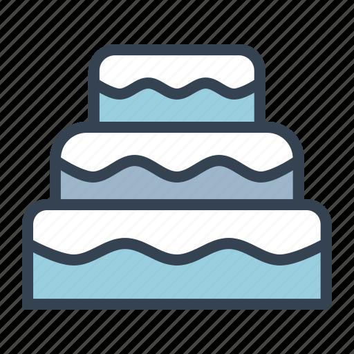 birthday, cake, cream, dessert, sugar, sweet icon