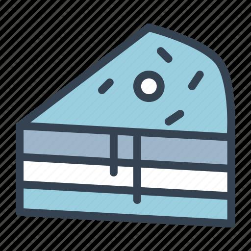 cake, cherry, dessert, pie, slice, sweet, treat icon