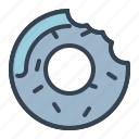 confectionery, dessert, donut, sugar, sweet, treat icon