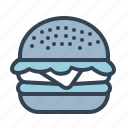 beef, burger, chicken, food, hamburger, junk, sandwich icon