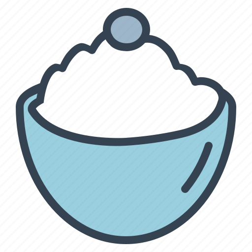 bowl, cream, dessert, ice, sugar, sweet, treat icon