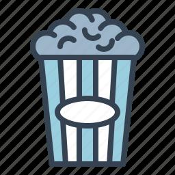 cinema, corn, movie, pop, snack, theater icon