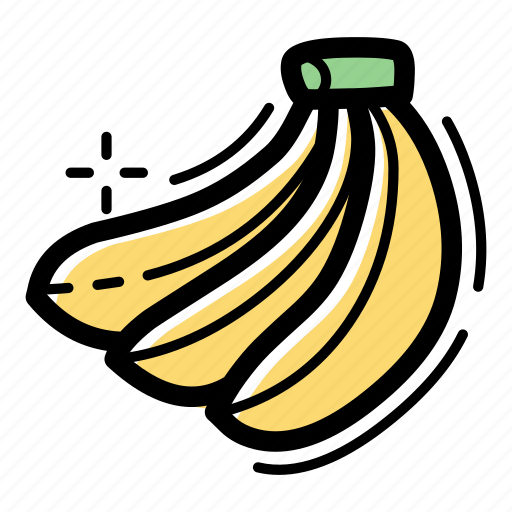 banana, flavor, food, fruit, healthy, nutrition, tropical icon