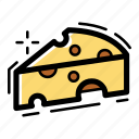 cheese, food, meal, milk, piece, restaurant icon