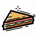 beef, bread, fast, food, junk, meal, sandwich icon