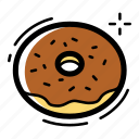 bakery, bread, cake, chocolate, dinner, donut, food icon