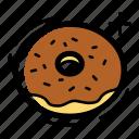 bakery, bread, cake, chocolate, dinner, donut, food icon