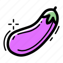 cooking, eggplant, farm, food, gastronomy, healthy, vegetable icon