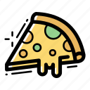 bread, food, italy, meal, pie, pizza, slice icon